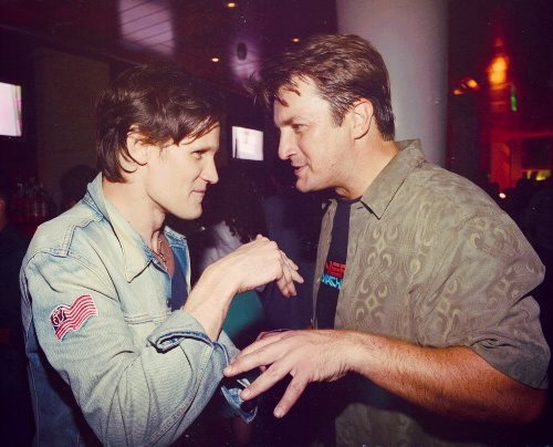 lordwilmore:  Oh, nothing much. Just Nathan Fillion and Matt Smith at ComicCon.