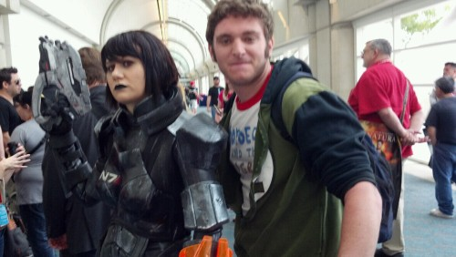 Oh look, it's me and @HollyConrad as FemShep. SUCH an awesome suit. She's a master.