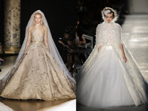 CHANEL Vs. ELIE SAAB Brides at Paris Haute Couture FW 2012 2013