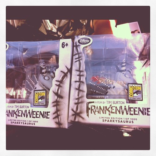 #Frankenweenie up for grabs in our shop. #Sparkysaurus #SDCC #SDCC2012 #Comiccon #Limited #edition #timburton #disney #funkopop #popwars #poptoys #follow4funko #funkofamily  (Taken with Instagram)