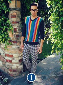 Look #1: Bright Stripes