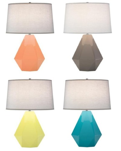 ON THE WISHLIST: The 'Delta' lamp from Robert Abbey. They look like Ring Pops candy and are pretty amazing. I love the geometric shape and endless colors to choose from!