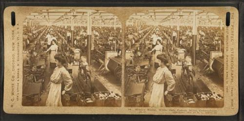 Weave room, White Oak Cotton Mills. Greensboro, N.C. (1909)
