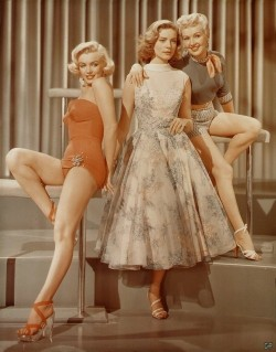 unitedartists:  Marilyn Monroe, Lauren Bacall and Betty Grable- 'How To Marry A Millionaire'. (1953)