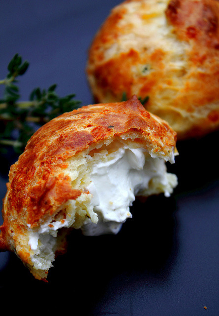 Gougères Appetizer by Adventuress Heart on Flickr.