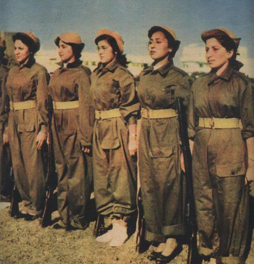 "Egyptian women resistance fighters in, 1956  This image above supposedly depicts Egyptian women fighters from Port Said, Egypt. A lot of images published like the one above by Nasser's regime during the Suez Crisis claimed to be showing Egyptian women when in fact, a lot of them were actually of Greek origin. One prominent example of this is the following poster which purported to show a ""young Egyptian woman"" fighting for the honour of her country. The image is in fact of a young Greek woman, Popi Deligiorgi who was one of the first volunteers to join the Egyptian National Guard:   There were many other examples:     The Greek community in Egypt was once very well-established. At the start of the 20th century there were about 200,000 Greeks in Egypt. Today, the Greek community there has approximately 1,000 members. It was a community that once controlled 80 per cent of Egypt's financial life, founded the first bank, established the country's first theatres and cinemas, and produced the first wines and cigarettes. But this thriving community departed with the rise to power of Gamal Abdel Nasser and pan-Arab nationalism:  The exodus of Greeks from Egypt started during and after the revolution of 1952. With the establishment of the new sovereign regime of Gamal Abdel Nasser, rise of Pan-Arab nationalism and the subsequent nationalisation of many industries from 1957 and afterwards, thousands Greeks were forced to abandon the country. Many of them immigrated to Australia, the United States, Canada,South Africa, Western Europe, and Greece. Many Greek schools, churches, small communities and institutions subsequently closed. The Nasser regime was a major disaster for the Greek diaspora which afterwards has dwindled from many thousands to a handful. The dangerous situation in the Middle East has also deteriorated the conditions for the Greeks that stayed back in Egypt. It is estimated that between 1957 - 1962 almost 70% of the Egyptiot Greeks have left the country.  Nasser had no problem in exploiting the work of the Greeks in Egypt for his own propaganda and to maintain a polished image of his rule. When he no longer required their services, he simply had them leave the only life they knew in the country they had been born and raised in. We mustn't forget the contributions of the Greeks and their history in Egypt. If you'd like to find out more then I'd recommend you watch this fantastic documentary produced by Al Jazeera. You can also watch it in Arabic here. [Wikipedia] [Al Jazeera] [ΑΡΧΑΙΑ ΑΙΓΥΠΤΟΣ]"