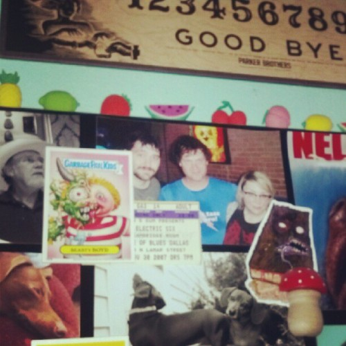 My magnet board is just weenies and important men. (Taken with Instagram)