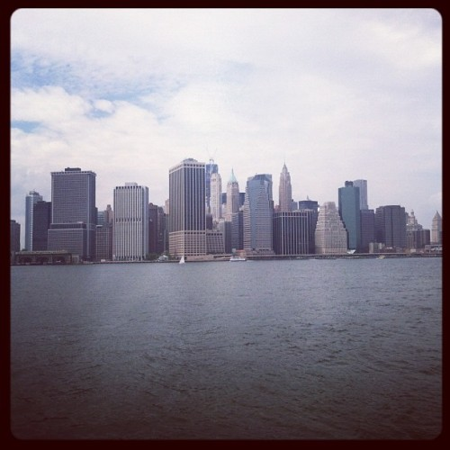 Downtown Manhattan. (Taken with Instagram at East River Ferry Terminal Pier 6 Brooklyn Bridge Park)