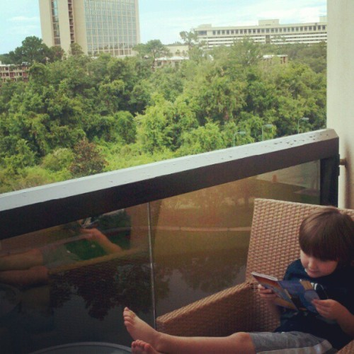 #thekid enjoying our balcony. #LakeBuenaVista #Disney #Orlando (Taken with Instagram)