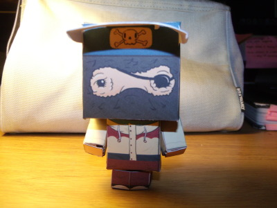 Spent all day making this paper toy, I think it'll be a while before I make another…. stressful is not the word! Pretty happy with him though!