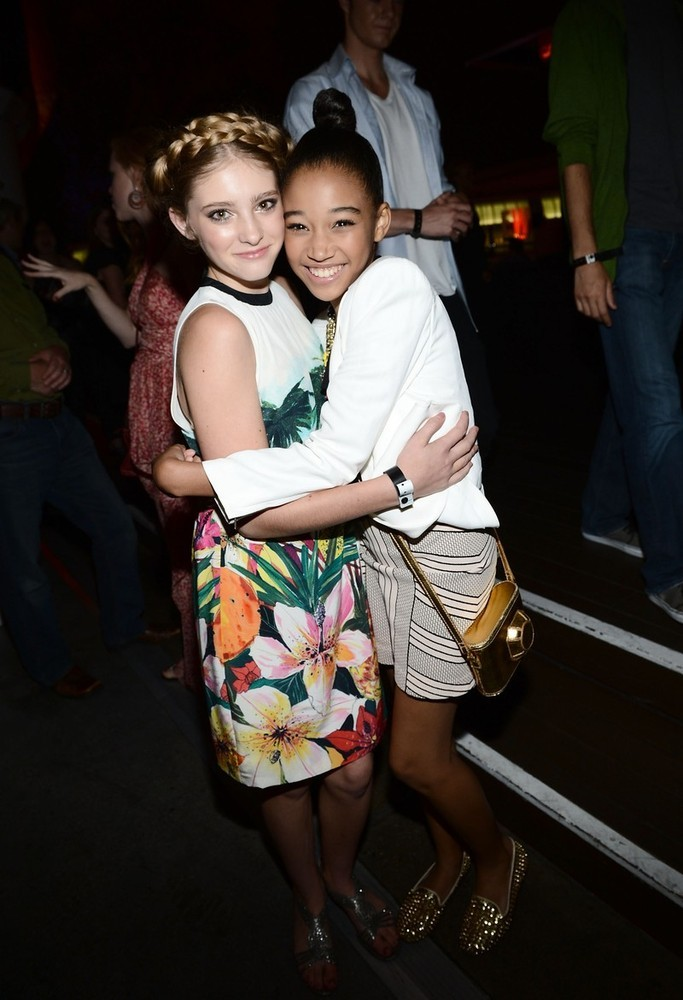 Willow Shields and Amandla Stenberg at Entertainment Weekly's Comic-Con Celebration in San Diego, July 14th