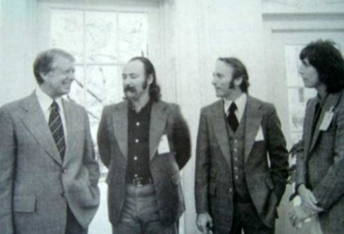 Crosby, Stills & Nash with Jimmy Carter A figurative representation of Best & Worst.