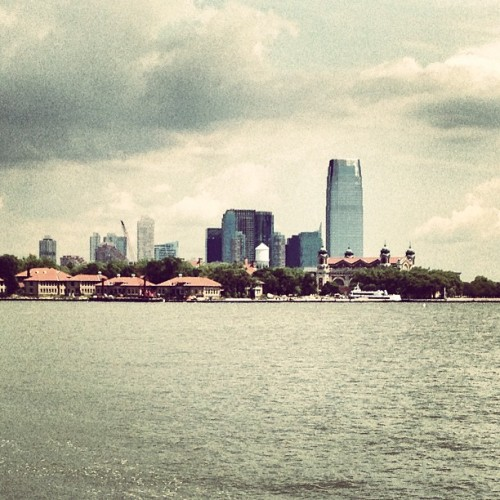 #EllisIsland and #JerseyCity #skyline (Taken with Instagram at Liberty Island)