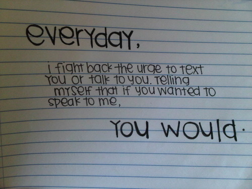 bestlovequotes:  Everyday I fight back the urge to text you or talk to you | FOLLOW BEST LOVE QUOTES ON TUMBLR FOR MORE LOVE QUOTES