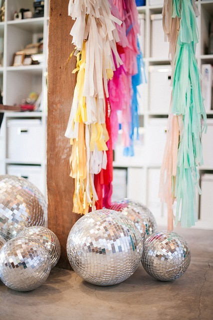 (via Party Time / Disco balls in your studio? Why not!)