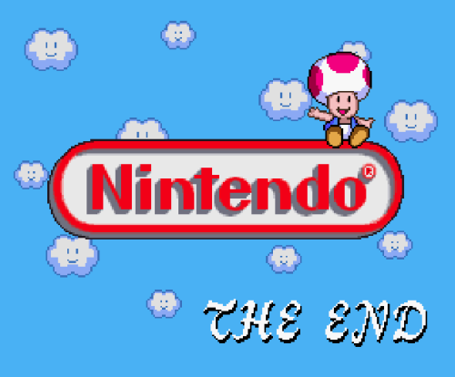 """Nintendo — the end."" Yep, that's the end of Nintendo! Goodbye forever!!! Maybe."