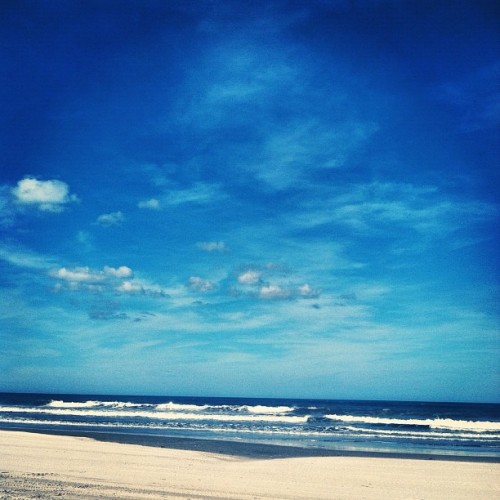 Beach Day! 👣🌊☀🐬#carova #beach #curriruck #outerbanks #obx #ocean #waves #sand  (Taken with Instagram at Currituck National Wildlife Refuge)