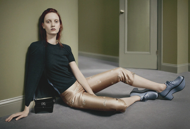 Codie Young by Daniel Jackson for Jil Sander Navy