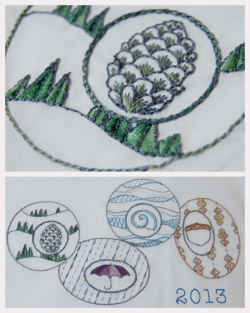 truebluemeandyou:  DIY Four Seasons Embroidery Pattern from So September here. I see so many embroidery patterns every day that quite frankly I personally would never spend the time doing but this pattern is different and really beautiful. *If you like this pattern download it now, because you never know when it may disappear!