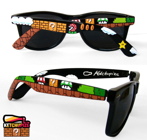 insanelygaming:  Super Mario Bros Wayfarer Sunglasses Created by ketchupize Available on  Etsy