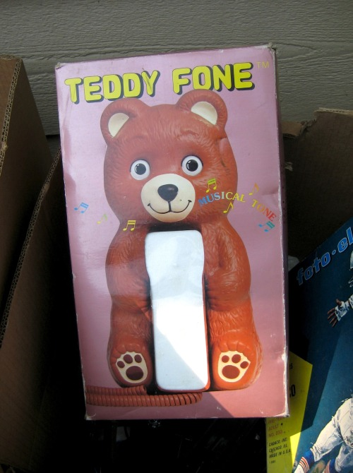 Item not purchased from an estate sale: Teddy Fone.