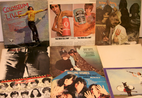 "And what did I actually get at the estate sale? These records, plus a few others. Nothing shockingly unusual but they were a dollar each and I was particularly pleased to find a cheap copy of ""The Who Sell Out"", not to mention ""Sticky Fingers"" with the zipper cover."