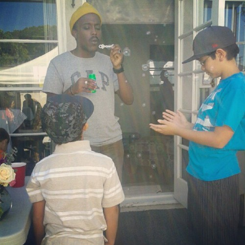 Kenfe loves the kids. (Taken with Instagram)