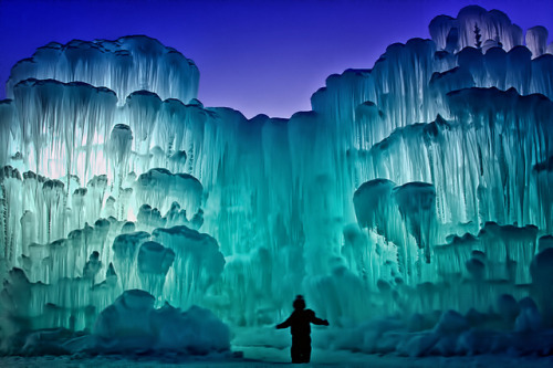 travellingwonder:  Ice Castles at Silverthorne, Colorado