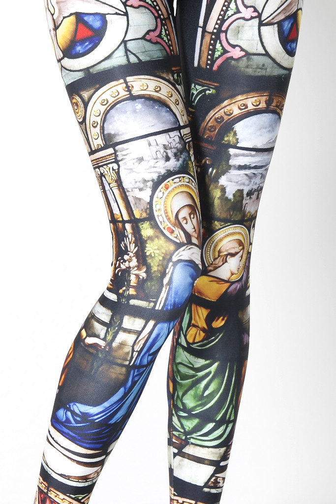 wickedclothes:  Cathedral Leggings Get religious. Sold on Black Milk Clothing.