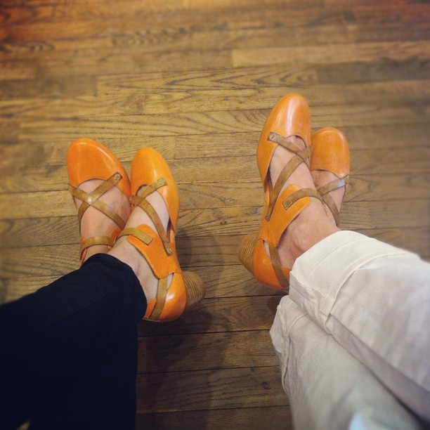 Yesterday it was jeans & today it's these dreamy shoes. @corinnedevlin  (Taken with Instagram at Sockshop & Shoe Company)