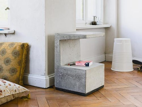 concrete side table - please