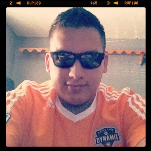 Ready for the dynamos game with my new haircut. #dynamo #haircut #fauxhawk #mls #orange #frontcamerasucksaas #me  (Taken with Instagram)