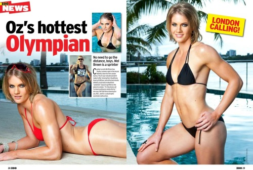 Olympic sprinter Melissa Breen featured in the July issue of Zoo Weekly magazine, Australia.Images from our shoot 'Melissa Breen :: swimsuit'.