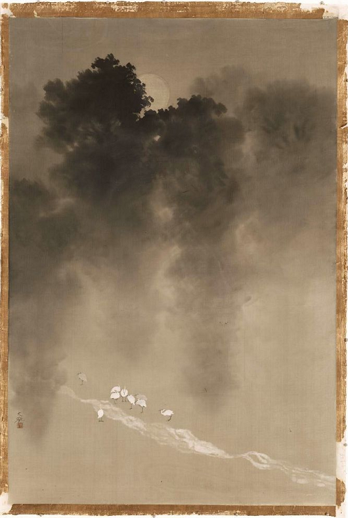 artemisdreaming:  Moonlight in the Woods Yokoyama Taikan Japanese, about 1904–1905 Museum of Fine Arts, Boston, Accession number: 27.806 Detail                Ricordare El Perro Semihundido di Goya è stato un attimo