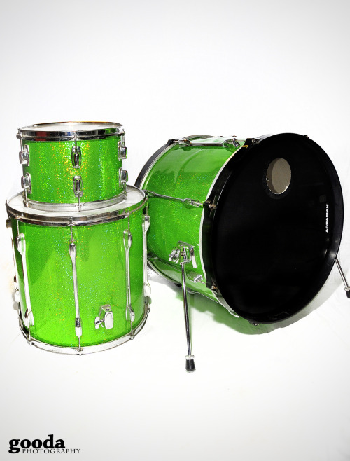 custom sparkle green tama rockstar.