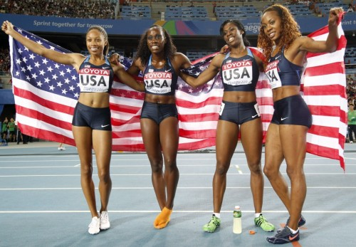 women's 4x400 2011 IAAF world championships in athletics