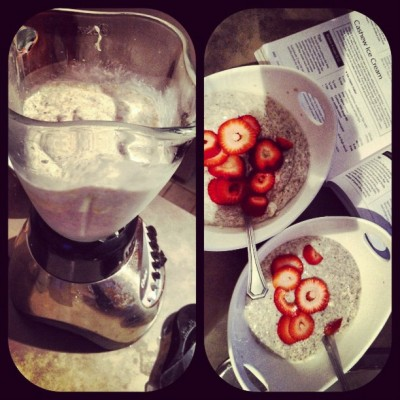 Mmmmm making #raw #cashew #homemade #icecream with @atravisscorry !!!! #summer #treat #delicious #nutritious  (Taken with Instagram)