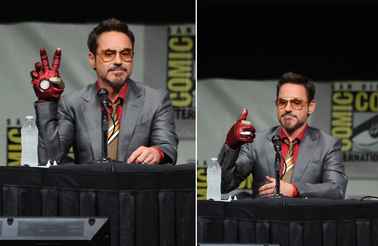 Robert Downey Jr - Iron Man 3 Comic-Con panel, July 14th 2012