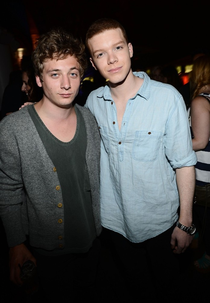 Jeremy Allen White (Lip Gallagher) & Cameron Monaghan (Ian Gallagher) from Shameless - Entertainment Weekly Comic-Con party, July 14th 2012 Love the Gallagher boys!