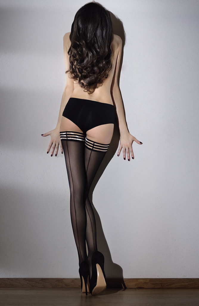 Glamorous and sexy Italian stockings fashion from Franco Bombana.