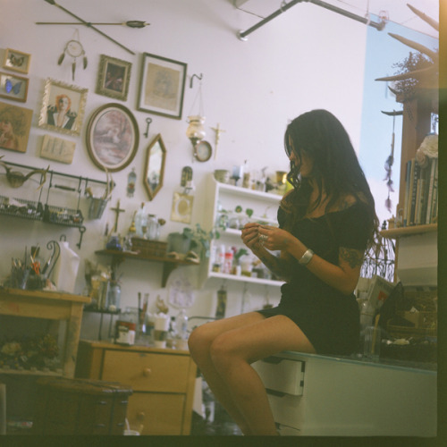 Charmaine on Flickr.Charmaine Olivia in her studio, on film - San Francisco, June 2012