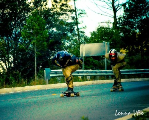 (via Longboard Fest 2012) I think this is a picture of the final run in MLF 2012 Kyle won first place and Casey Morrow second