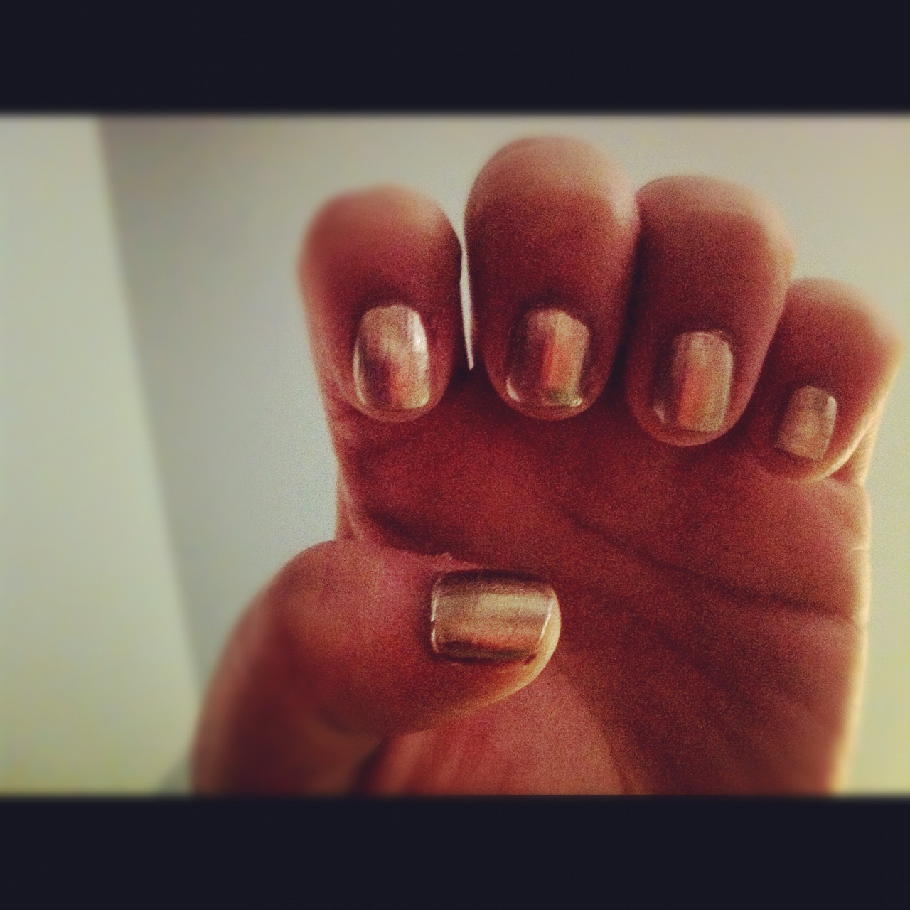 Gold metallic nail polish!