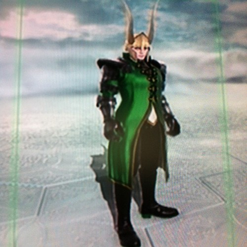 I made Loki in Soul Calibur 5!!! #loki #soulcalibur #soulcalibur5 #avengers #marvel (Taken with Instagram)