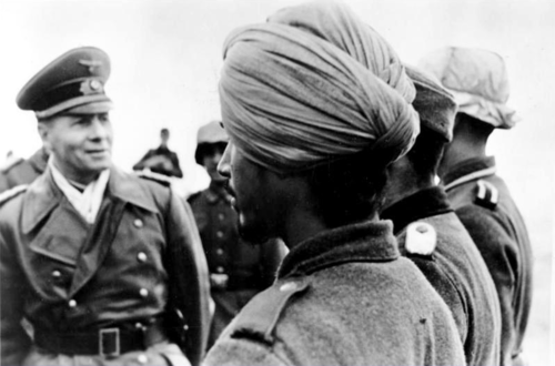 Rommel inspecting Free Indian troops in North Africa.