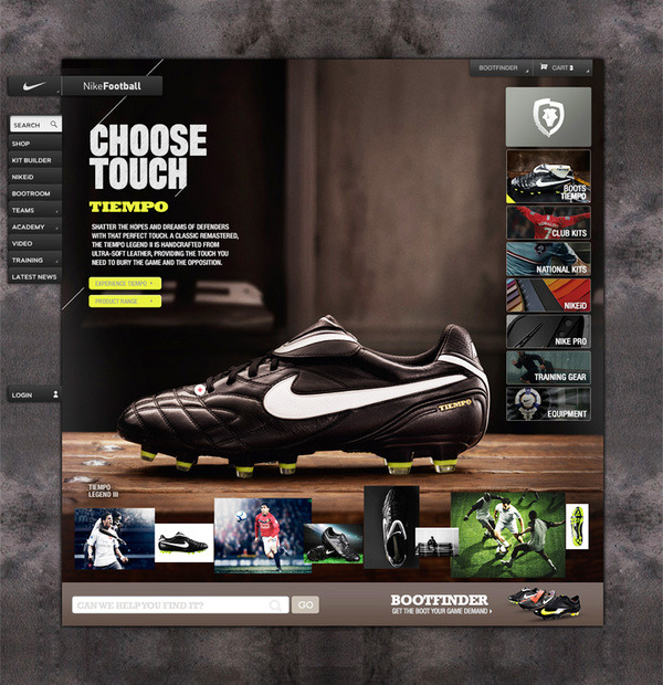 (via Nike Bootroom on Web Design Served)