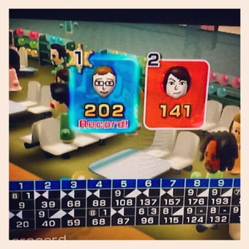 Playing Wii for the first time in a while… (Taken with Instagram)