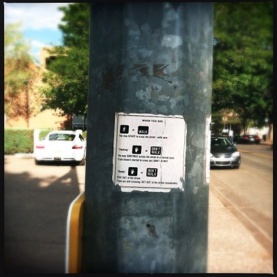 how to use a cross walk.  (Taken with Instagram at Santa Fe, NM)