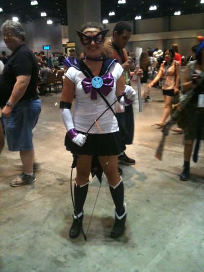 sparkleheartache:  Sailor Hawkeye -ctcon 2012  IT HAS BEGUN! So I've been getting a lot of requests from people to cosplay my Sailor Avengers (and for anyone who might ask: yes it's completely cool with me if you cosplay Sailor Avengers, I just want credit for the designs when you post them online and I'd also love to see the completed costumes! :D) But I believe this is officially the FIRST person to do it. This is http://tbzian.tumblr.com/ cosplaying my Sailor Hawkeye design. How cute is this????!!!!!!! Love love love. Cool cool cool. Love love love. I'm really excited to see if the rest of the Sailors get made, so awesome!
