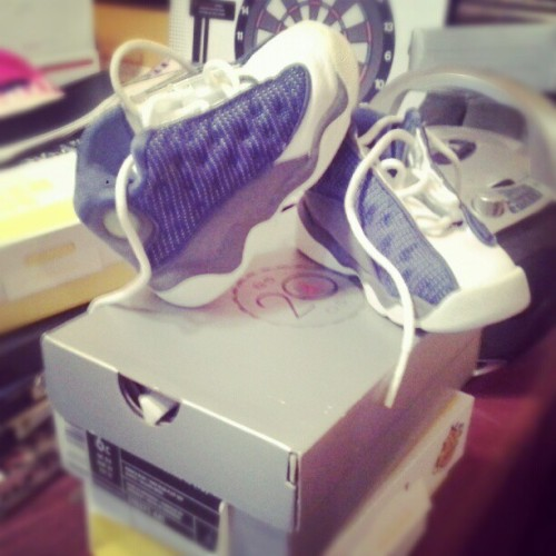 Fresh baby j`s!!!:) #fresh #baby #jordan #blue (Taken with Instagram)